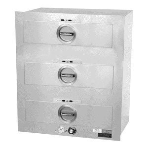 Toastmaster 3C80AT72 208/240 - Built In 3-Drawer Insulated Food Warmer, 7-Dz Rolls Ea, 208/240/1