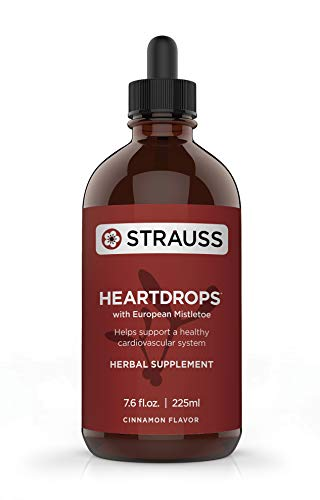 Strauss Heartdrops–Aged Garlic Extract, Herbal Supplement for Heart Health-Heartdrops | Maintain a Healthy Cardiovascular System–High Quality, Natural Ingredients (7.6 fl oz Cinnamon Flavor)