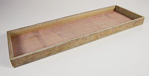 Holzschale 60x20x4cm, Holz, Natur-gewischt