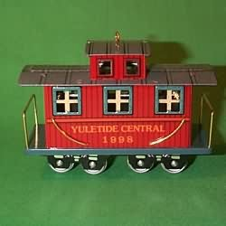 Caboose 5th in the Yuletide Central series 1998 Hallmark ornament