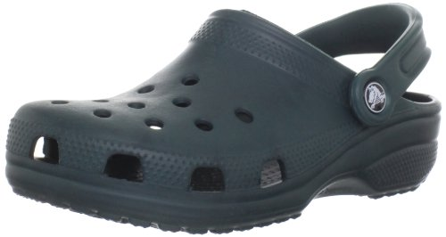 Crocs Classic Clog Adults, Evergreen, 9 Men / 11 US Women