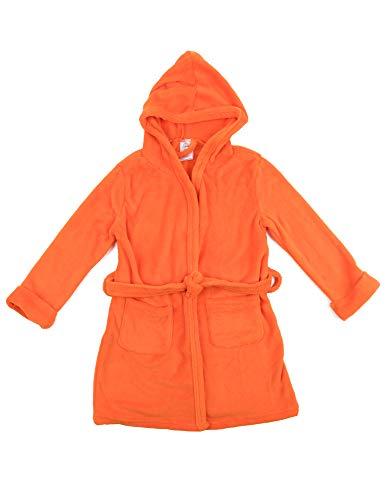 Leveret Kids Fleece Sleep Robe Orange Size 14 Years ()