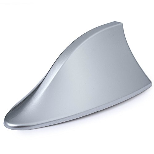 YoYo-Min Universal Car Roof Antenna Signal Radio Decorative Trim Stick Mounted Shark Fin Shaped ()
