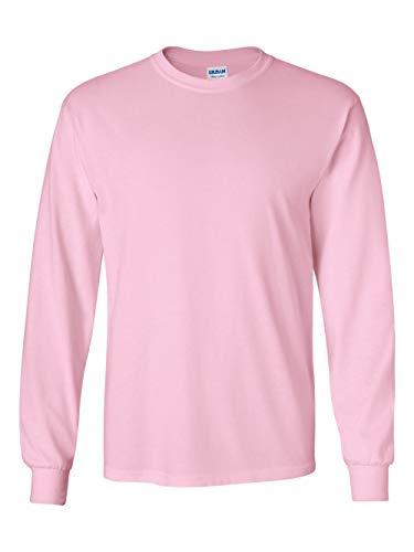 Pregnant Ash Grey T-shirt - Gildan Men's Ultra Cotton Long-Sleeve T-Shirt light Pink, Medium