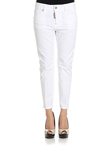 Dsquared2 Femme S72LB0089S39021100 Blanc Coton Jeans