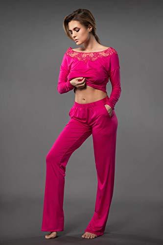 Millesime Palazzo Hose Damen Pyjama Trousers Palazzo Pants Pyjama Hose Bottoms Pants Sexy Damen Leggings Hotpants Palazzohose Damen Pyjamahose Damen Schwarz Hose Damen Nachtwäsche Hosen Große Größen
