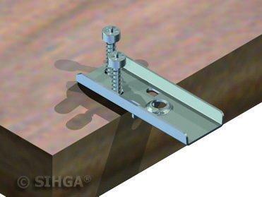 /DF II 17/sihg polyamide/ /Lot de 100 /Fixation de terrasse/ SIHGA/