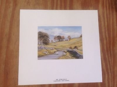 Vintage Print By J Dean RMS Limited Edition Circa 1970's 1980s Numbered( M22 Stone Walls Langstrothdale)