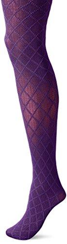 Hue Women's Diamond with Texture Tight, Wild Violet, Small/Medium
