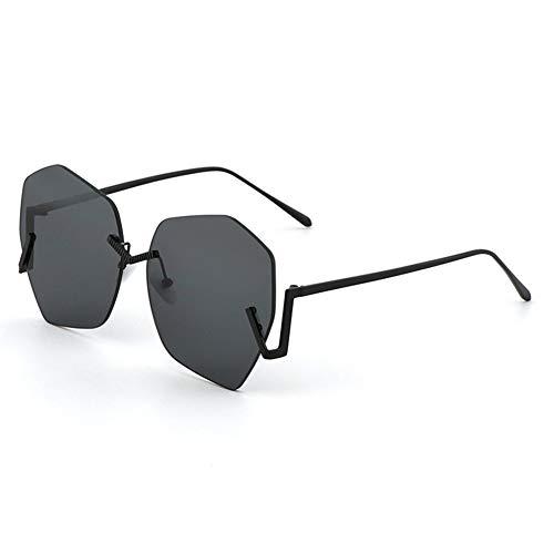 de Personnalité C exagérées soleil protection lunettes NIFG grand soleil lunettes polygone cadre de UV dame dIqwfnZ