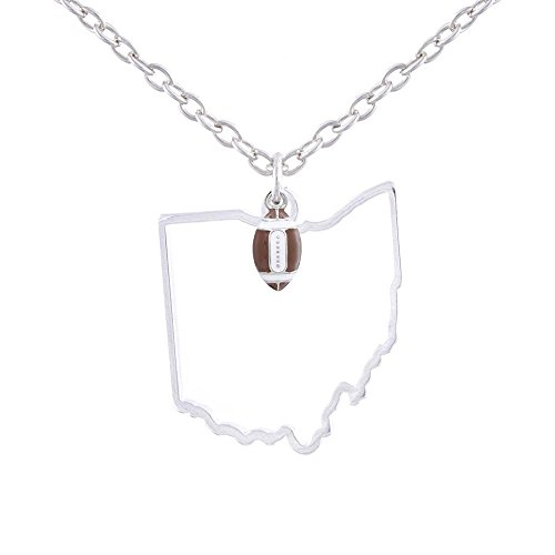 GIMMEDAT State of Mine: Ohio Football Enamel Necklace ()