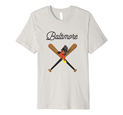 Baltimore Oriole Baseball Bird Mascot Design T-Shirt