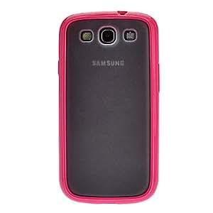 PEACH-Transparent TPU Soft Case + Portable Mini Stylus Pen for Samsung Galaxy S3 i9300 , Purple