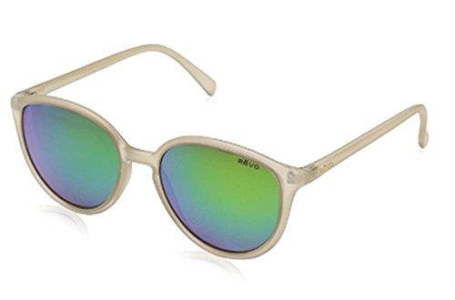 Revo Re 5013 Greison Polarized Round Sunglasses, Matte Sand Green Water, 53 - H M Sunglasses And Mens