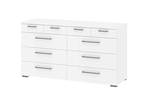 Tvilum 702234949 Aria 10 Drawer Dresser, White 10 Drawer Chest Dresser