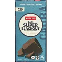Alter Eco Organic Super Blackout Dark Chocolate Bar, 2.65 Ounce -- 12 per case. (Chocolate Super)