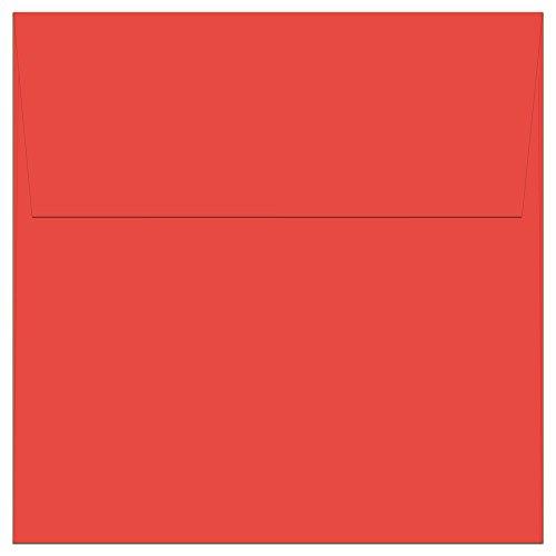 """100 Red Square Envelopes - 5.5"""" x 5.5"""" - Square Flap"""
