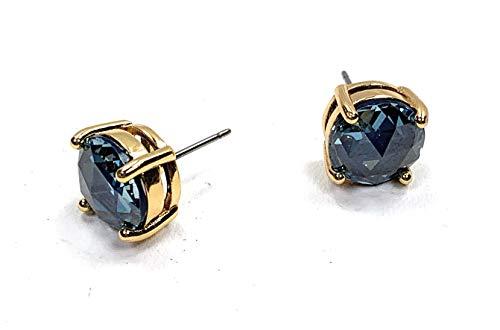 - kate spade New York Pave Crystal Stud Earrings Montana Blue