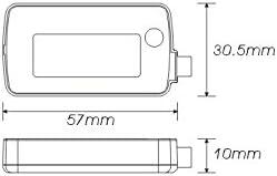 KOSO Benzinstands-Messer Tankanzeige Mini Style Weiss beleuchtet