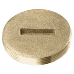 Soux Chief 877-35 Brass Cleanout Flush Plug for Plumbing Support by Soux Chief