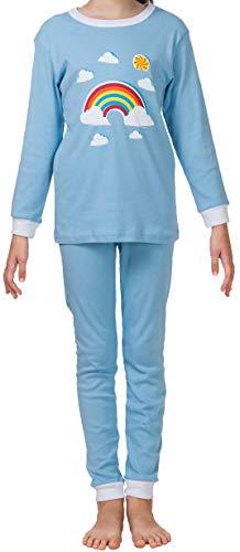 CAOMP Girls Pajamas Organic Cotton Pjs for Children Sleepwear Kids 2 Pieces Set (Cotton Clothing Childrens Organic)