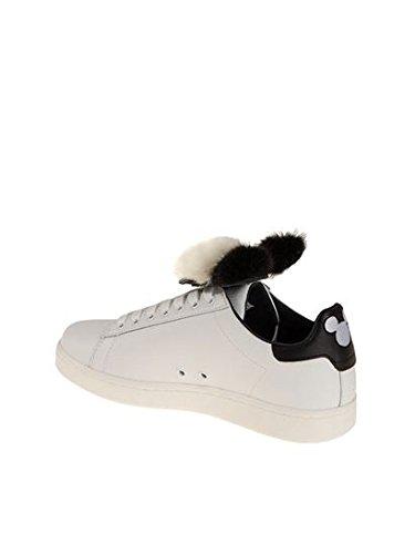 Blanco Moa Zapatillas Cuero Md1080 Mujer PnSwqvxZ