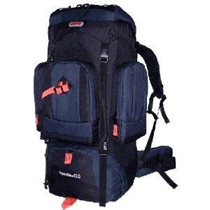 CUSCUS 7500ci 120L Internal Frame Hiking Camp Travel Backpack Navy Black, Outdoor Stuffs