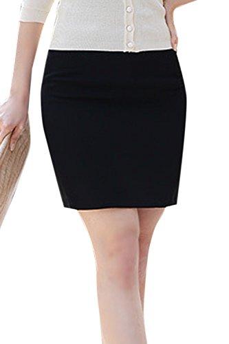 Nimpansa Les Femmes Une Mini Jupe Crayon Solide Bureau Bodycon Jupe Courte Black