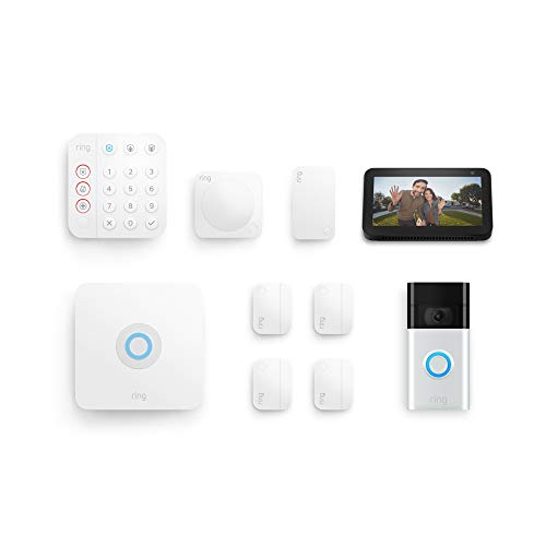 Ring Alarm 8-Piece Kit (2nd Gen) with Ring Video Doorbell (2020 release) and Echo Show 5 (1st Gen)