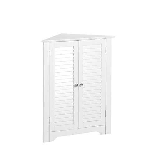 RiverRidge Ellsworth Collection 3-Shelf Corner Cabinet, White (Bar White Corner Cabinet)