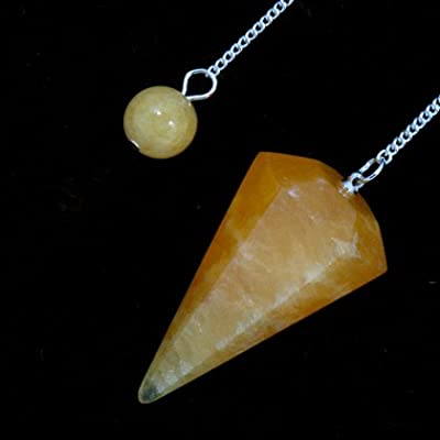 Orange Calcite Crystal Pendulum