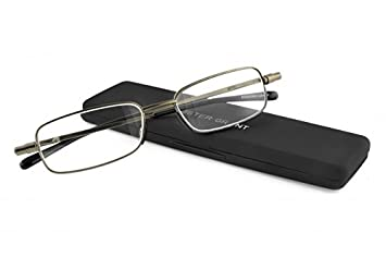 ab86588ab57 Image Unavailable. Image not available for. Color  Foster Grant Gavin Men s  Folding Gunmetal Reading Glasses ...