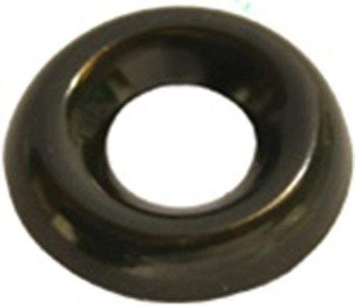 Clipsandfasteners Inc 100#6 Countersunk Finish Washer Black Zinc Plated Bras