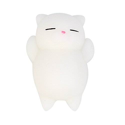 Hot Sale!DEESEE(TM)Cute Mochi Squishy Cat Squeeze Healing Fun Kids Kawaii Toy Stress Reliever Decor (C)
