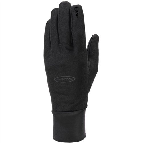 Seirus Innovation Men's Hyperlite All Weather Polartec Glove with Sound Touch Technology, Black, Large