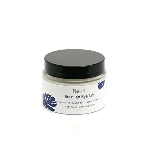 Nalani Brazilian Eye Lift Cream, Chemical Free, Organic, Eliminate Wrinkles Day & Night Cream w/Brazilian Coffee, Banana Oil, Mango Butter, Olive, Argan, Aloe, Shea Butter, Avocado, Sunflower, 1.7oz