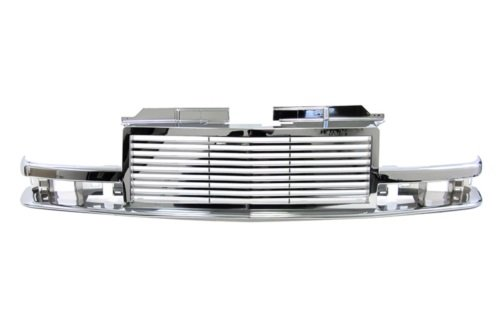 98-04 Chevy S10 Pickup Chrome Billet Style Front Grille OEM Replacement Grill 03 02 01 00 (Oem Grill Chrome)