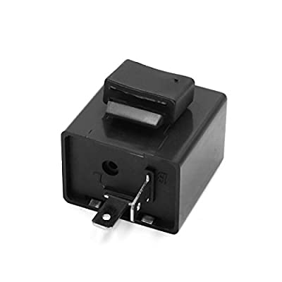 uxcell 6-12V 2 Pin Beeper Flasher Relay for Motorcycle Turn Signal Light Indicator: Automotive