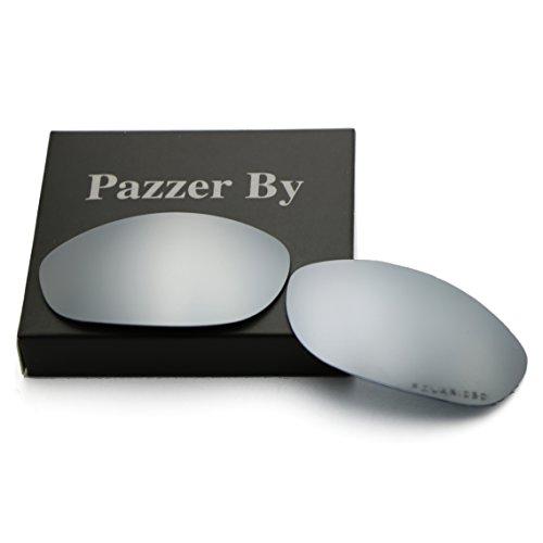 Polarized Replacement Lenses for Oakley Monster Dog - Sliver Mirrored - Dog Oakley Lenses Monster Polarized