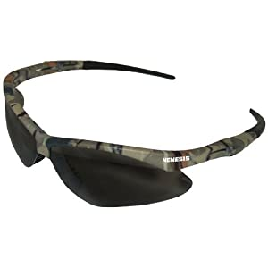 Jackson Safety V30 22609 Nemesis Safety Glasses 3020707 (3 Pair) (Camo Frame with Smoke Anti-Fog Lens)