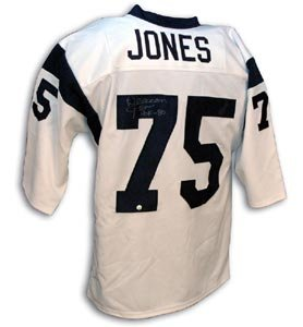 Store Throwback At Signed White Rams Sports Jones Jersey Deacon Collectibles Amazon's