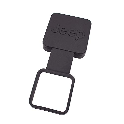 """Gekers 2"""" Trailer Hitch Cover Black Trailer Hitch Cover Tube Plug Insert for Jeep"""