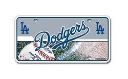MLB Los Angeles Dodgers Metal Auto Tag
