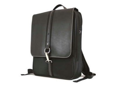 MOBILE EDGE - SLIMLINE PARIS BACKPACK - 16IN - BLACK,MICROFIBER W/KOSKIN TRIM