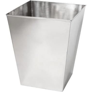 Polished Stainless Steel Wastebasket