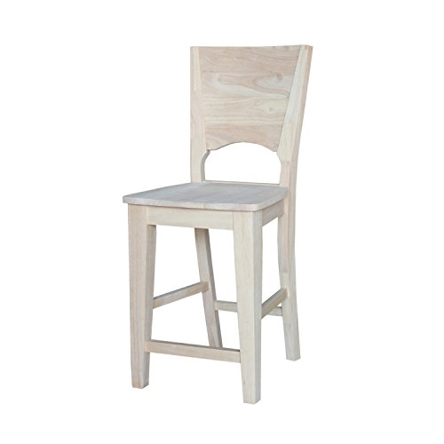 International Concepts Canyon Counter Height Stool, 24-Inch, Ready to Finish Review