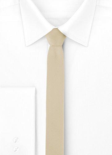 Mans SP 5cm 5 Tie Narrow x Ecru 150cm Ladeheid ATdqA
