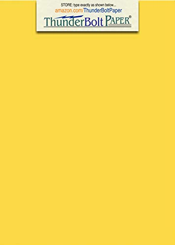 125 Bright Golden Yellow 65lb Cover|Card Paper - 5