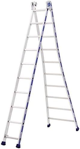 Tubesca-Escalera aluminio, 2 x 10 E, altura máx 5,78-Platinum 2442110 m: Amazon.es: Bricolaje y herramientas