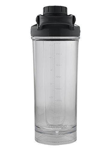 Contigo Shake & Go Fit Twist Lid Shaker Bottle, 28 oz, Black
